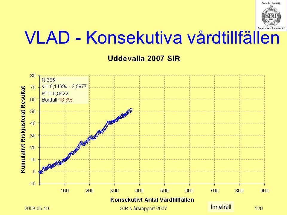 2008-05-19SIR:s årsrapport 2007129 VLAD - Konsekutiva vårdtillfällen Innehåll