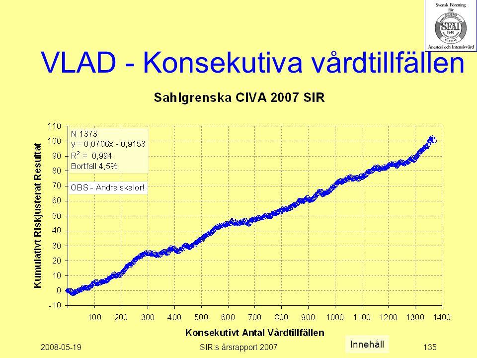 2008-05-19SIR:s årsrapport 2007135 VLAD - Konsekutiva vårdtillfällen Innehåll