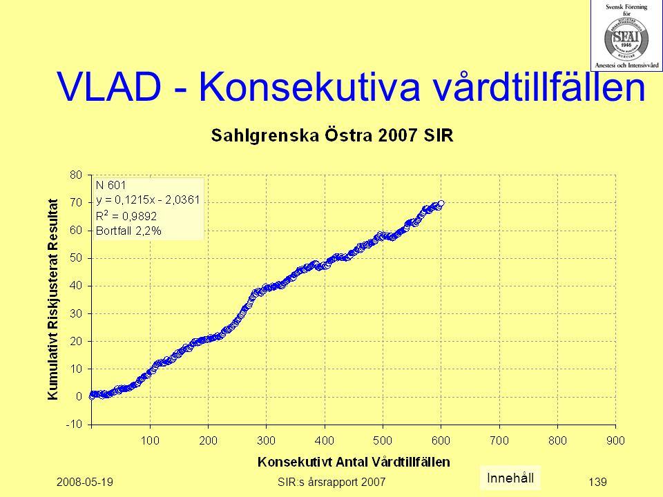 2008-05-19SIR:s årsrapport 2007139 VLAD - Konsekutiva vårdtillfällen Innehåll