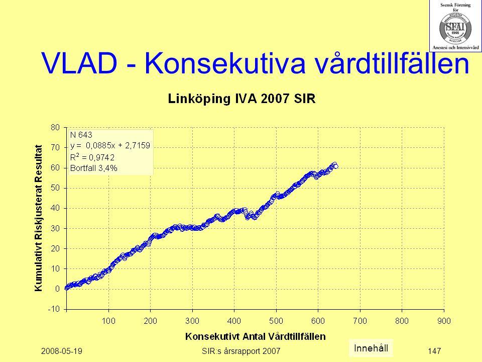 2008-05-19SIR:s årsrapport 2007147 VLAD - Konsekutiva vårdtillfällen Innehåll