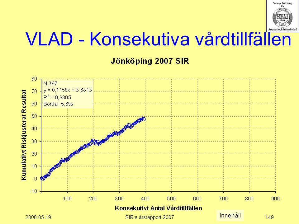 2008-05-19SIR:s årsrapport 2007149 VLAD - Konsekutiva vårdtillfällen Innehåll