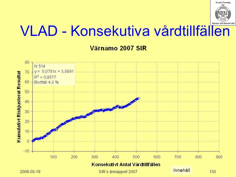 2008-05-19SIR:s årsrapport 2007155 VLAD - Konsekutiva vårdtillfällen Innehåll
