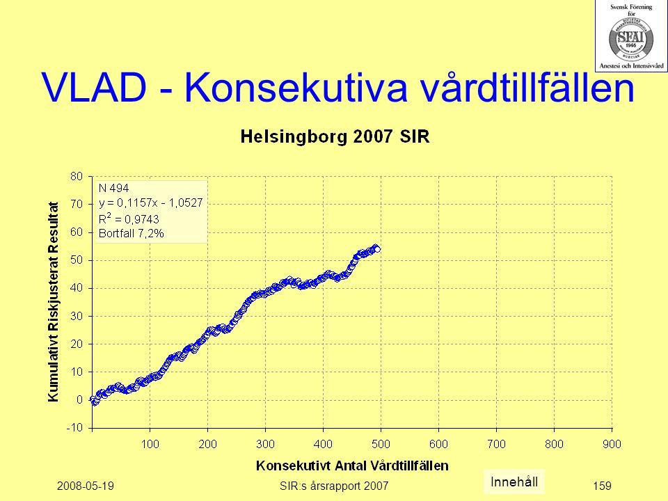 2008-05-19SIR:s årsrapport 2007159 VLAD - Konsekutiva vårdtillfällen Innehåll