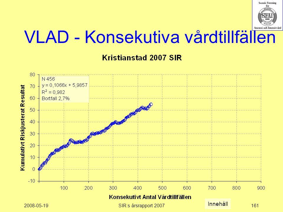 2008-05-19SIR:s årsrapport 2007161 VLAD - Konsekutiva vårdtillfällen Innehåll