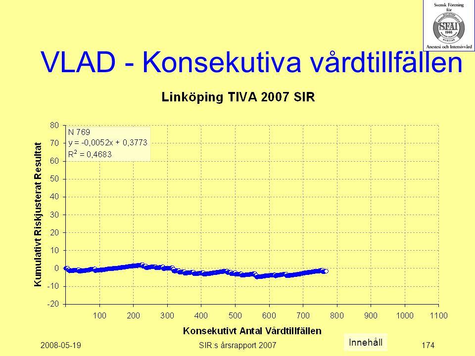 2008-05-19SIR:s årsrapport 2007174 VLAD - Konsekutiva vårdtillfällen Innehåll