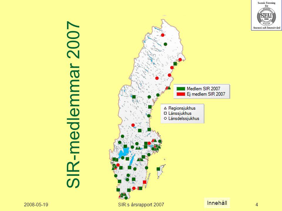 2008-05-19SIR:s årsrapport 20074 SIR-medlemmar 2007 Innehåll