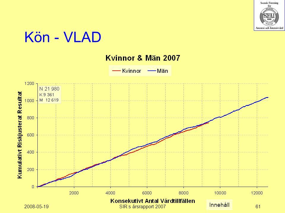 2008-05-19SIR:s årsrapport 200761 Kön - VLAD Innehåll