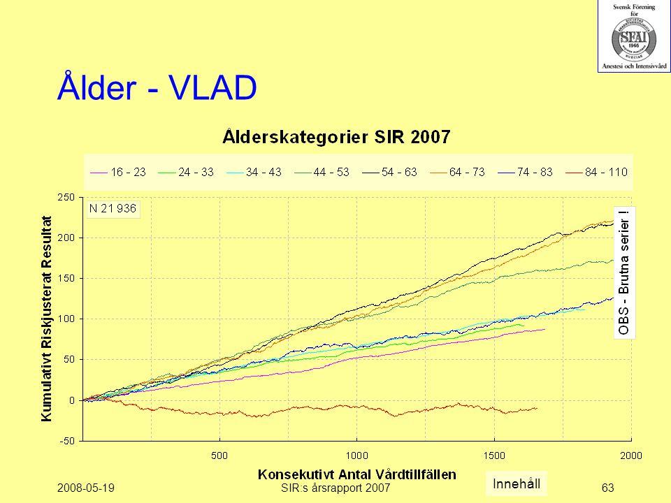 2008-05-19SIR:s årsrapport 200763 Ålder - VLAD Innehåll