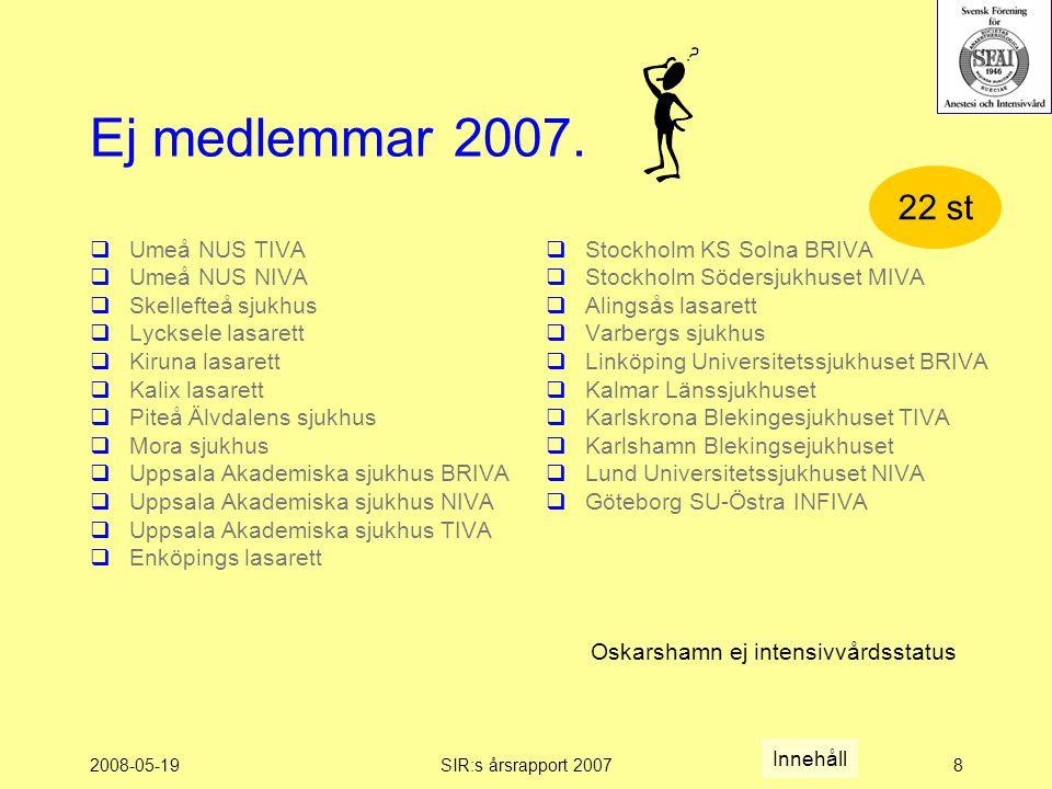2008-05-19SIR:s årsrapport 20078 Ej medlemmar 2007.