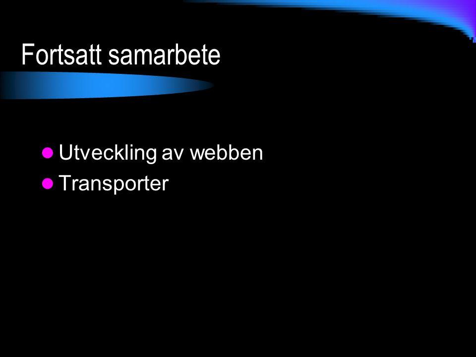 Fortsatt samarbete Utveckling av webben Transporter
