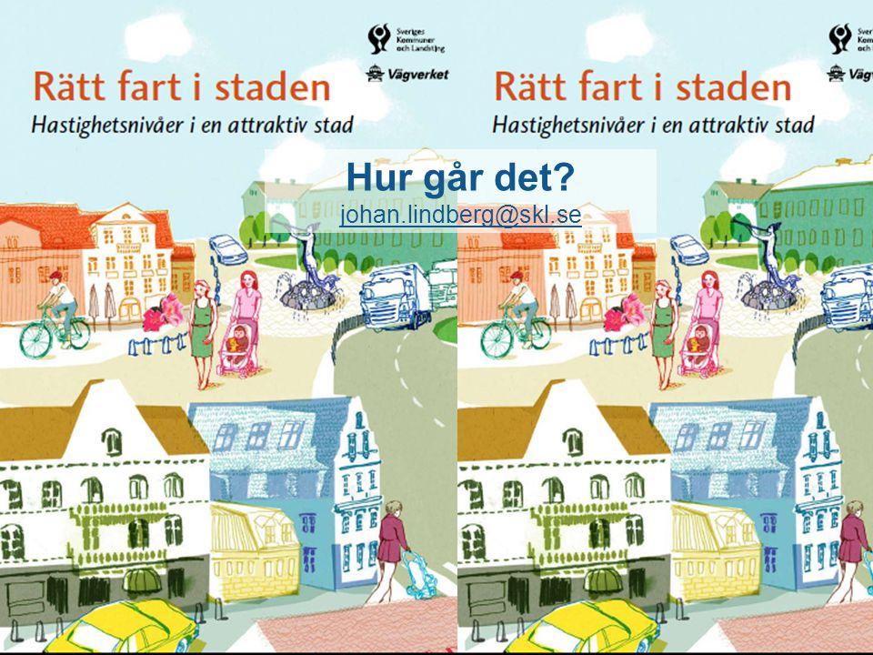 Rätt fart i staden! Hastighetsnivåer i en attraktiv stad! Hur går det? johan.lindberg@skl.se