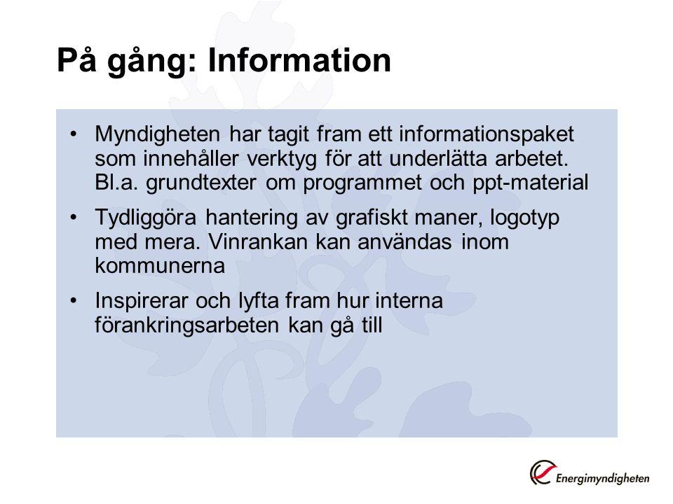 På gång: Information Myndigheten har tagit fram ett informationspaket som innehåller verktyg för att underlätta arbetet.