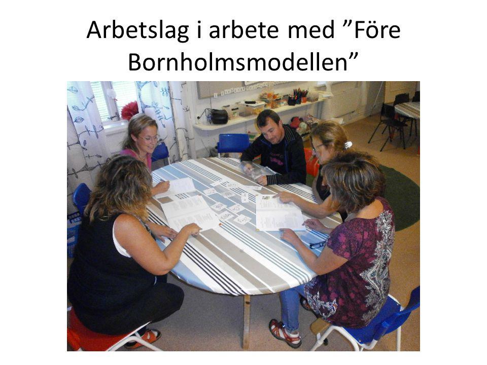 """Arbetslag i arbete med """"Före Bornholmsmodellen"""""""