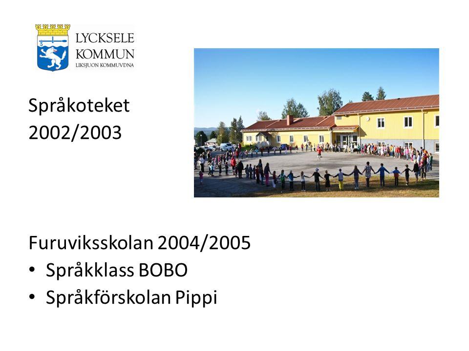 Språkoteket 2002/2003 Furuviksskolan 2004/2005 Språkklass BOBO Språkförskolan Pippi