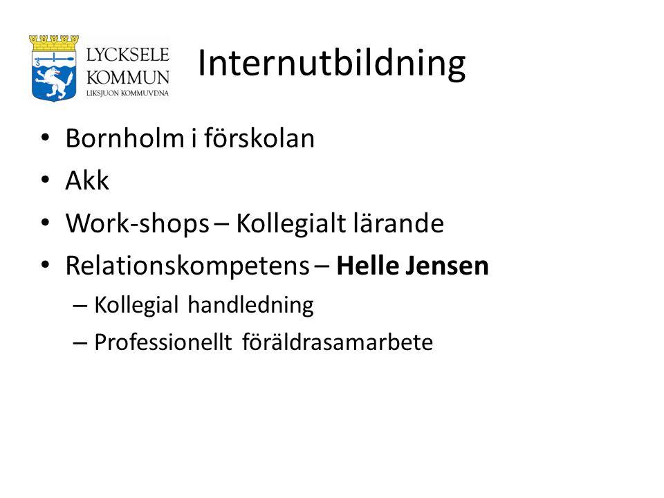 Internutbildning Bornholm i förskolan Akk Work-shops – Kollegialt lärande Relationskompetens – Helle Jensen – Kollegial handledning – Professionellt f
