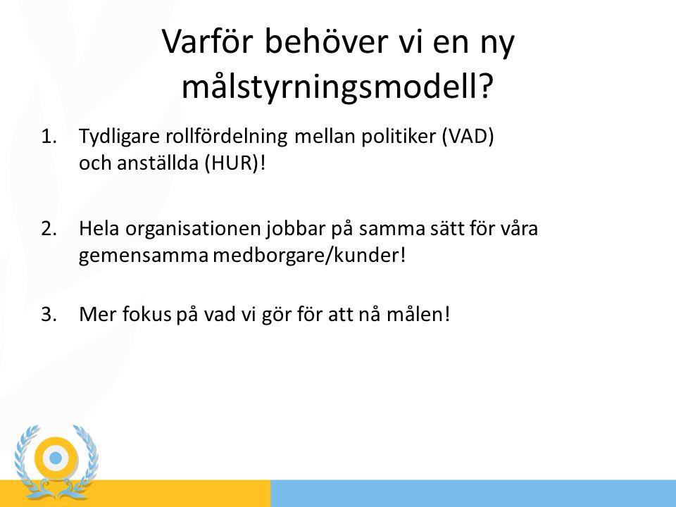 Övergripande mål – en översikt Medborgar/kundmål (externt) 1.Invånarna i Värnamo kommun ska känna sig trygga.