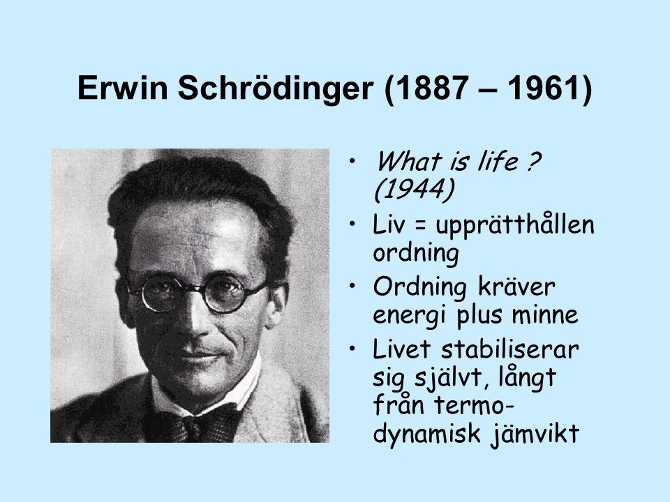 Erwin Schrödinger (1887 – 1961) What is life .