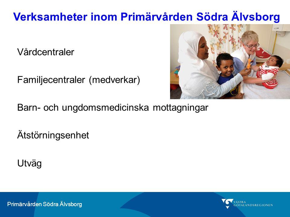 Primärvården Södra Älvsborg Vårdcentraler Familjecentraler (medverkar) Barn- och ungdomsmedicinska mottagningar Ätstörningsenhet Utväg Verksamheter in