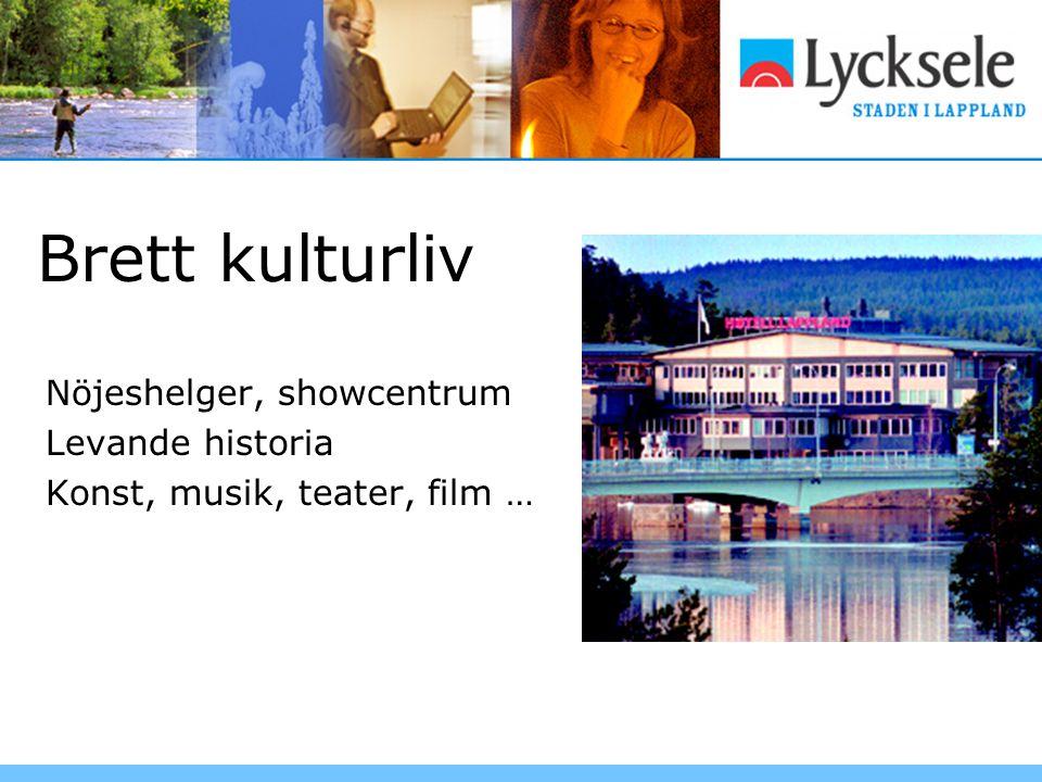 Brett kulturliv Nöjeshelger, showcentrum Levande historia Konst, musik, teater, film …