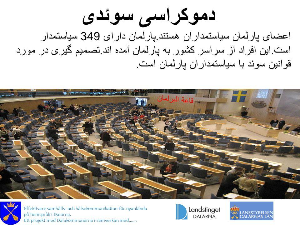 دموکراسی سوئدی قاعة البرلمان Effektivare samhälls- och hälsokommunikation för nyanlända på hemspråk i Dalarna.