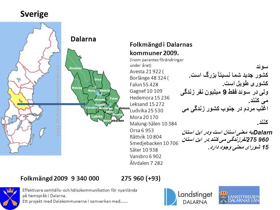 Folkmängd i Dalarnas kommuner 2009.