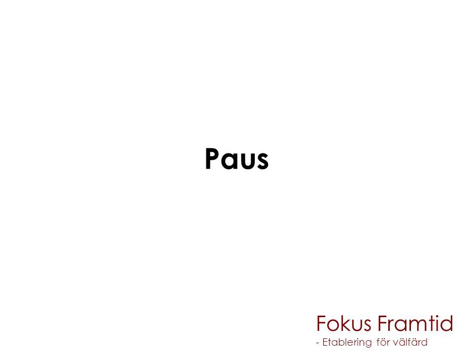 Paus Fokus Framtid - Etablering för välfärd