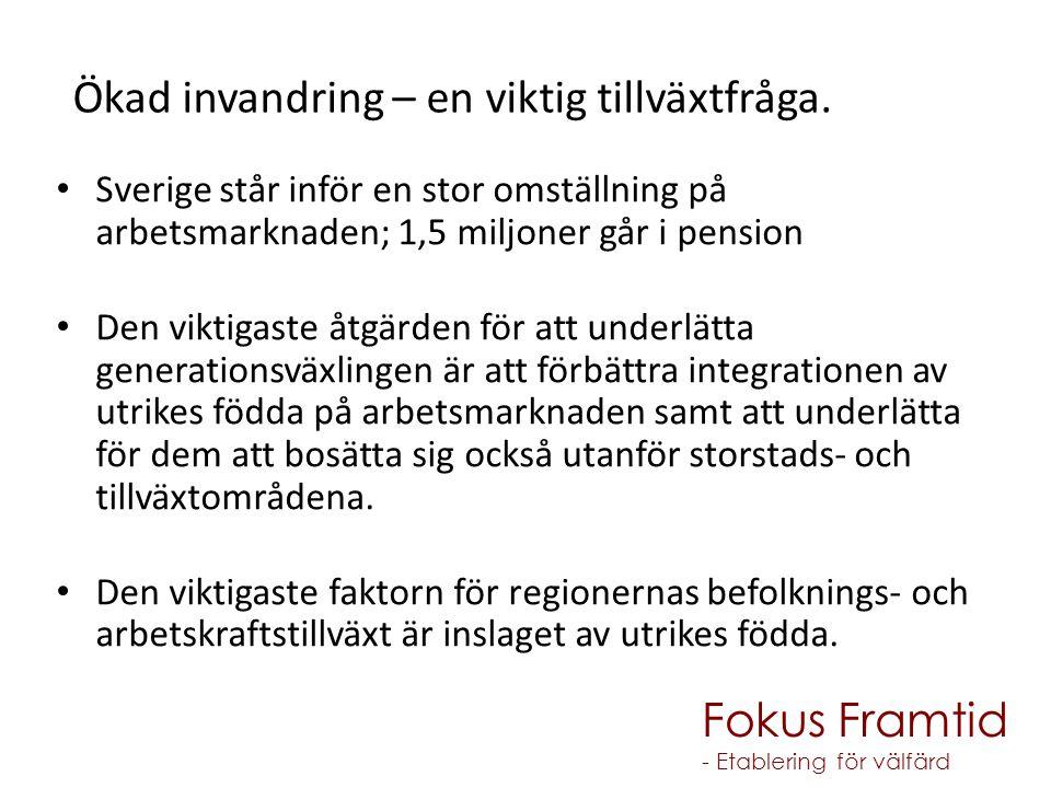 Sverige står inför en stor omställning på arbetsmarknaden; 1,5 miljoner går i pension Den viktigaste åtgärden för att underlätta generationsväxlingen