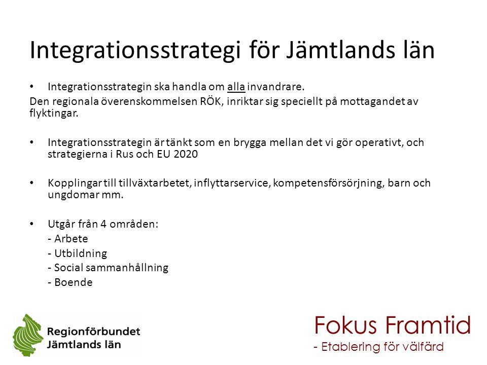 Integrationsstrategin ska handla om alla invandrare. Den regionala överenskommelsen RÖK, inriktar sig speciellt på mottagandet av flyktingar. Integrat