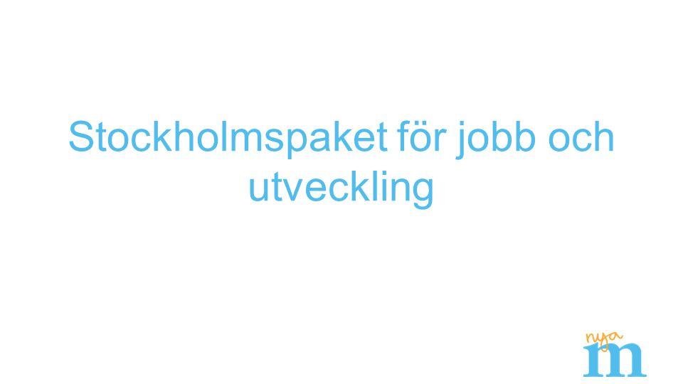 Stockholmspaket för jobb och utveckling