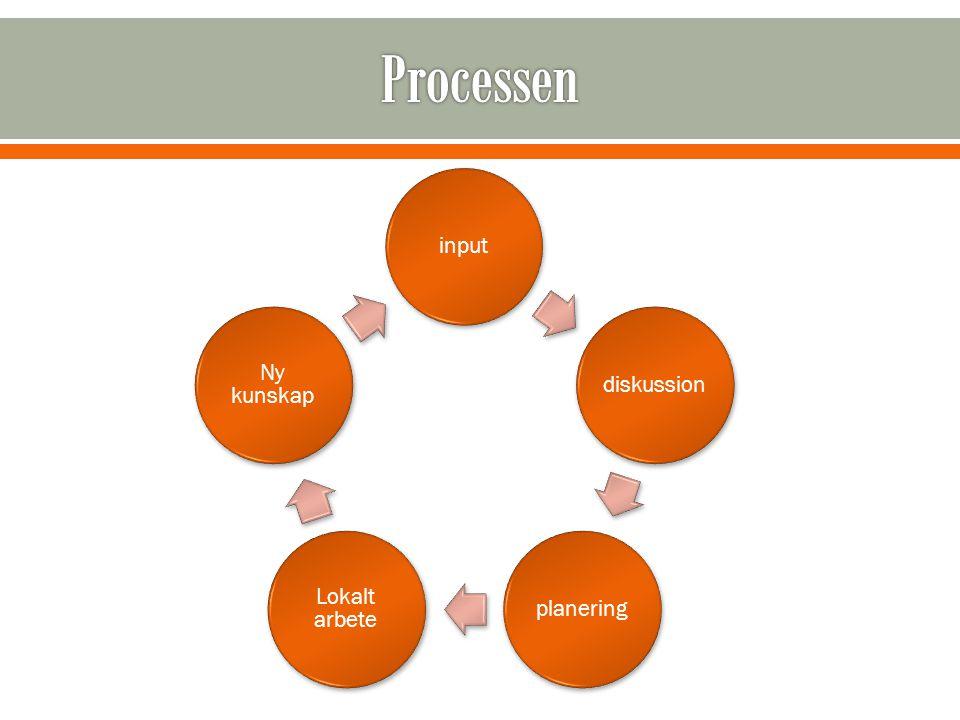 inputdiskussionplanering Lokalt arbete Ny kunskap
