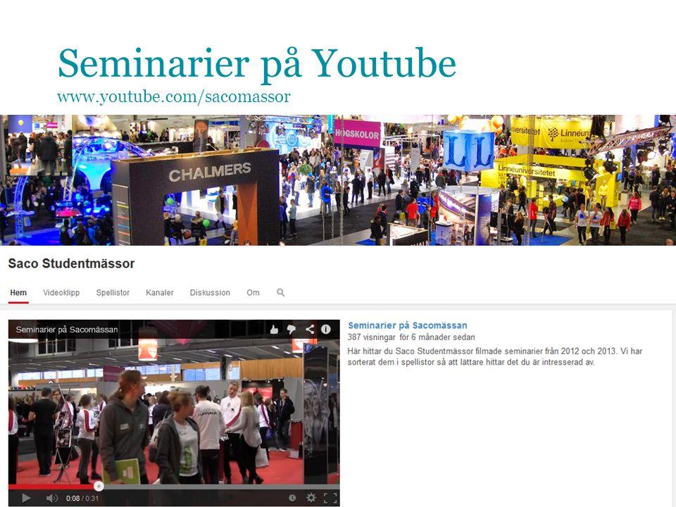 Seminarier på Youtube www.youtube.com/sacomassor 20