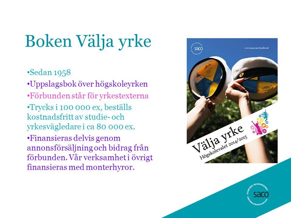 Rapporten Framtidsutsikter Arbetsmarknadsprognoser på 5 års sikt Stor konkurens om jobben – balans på arbetsmarknaden - liten konkurrens om jobben Släpps 20 november, 30 000 ex Författare: Pär Karlsson, ansvarig kommunikatör arbetsmarknad Saco Prognoserna görs av Sacoförbunden Finns även interaktiv version