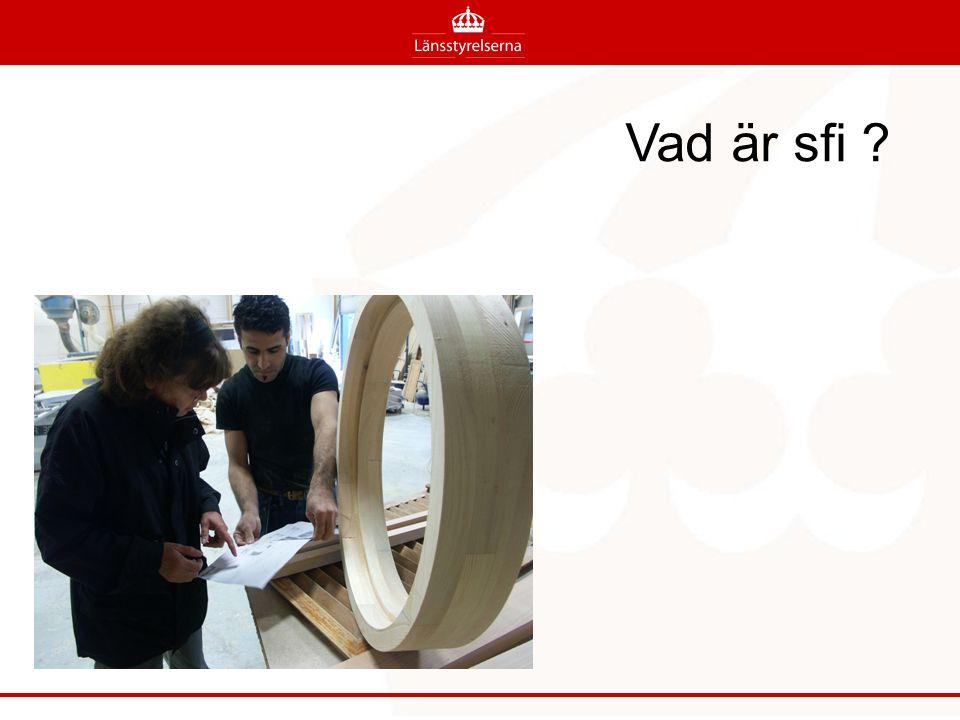 Svenska för invandrare (sfi) Kommunerna är huvudmän för sfi och är skyldiga att se till att sfi erbjuds dem som har rätt till denna undervisning.