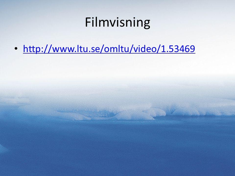 Filmvisning http://www.ltu.se/omltu/video/1.53469