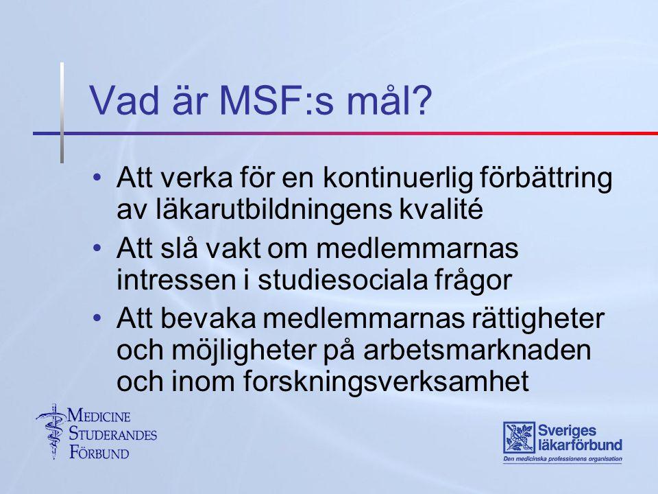 Vad är MSF:s mål.