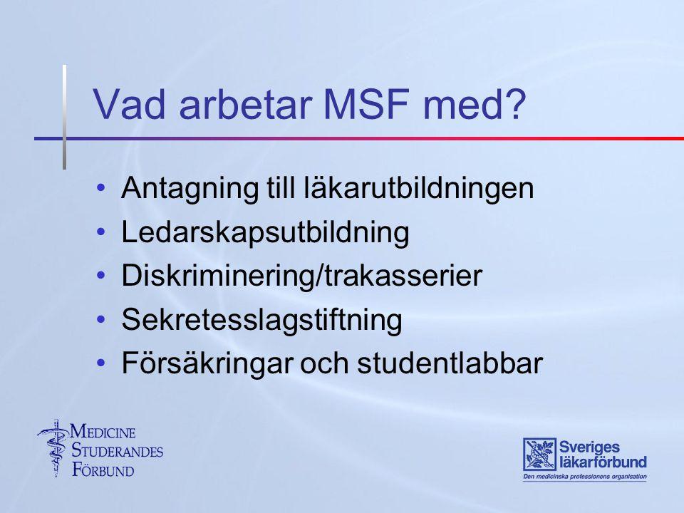 Vad arbetar MSF med.