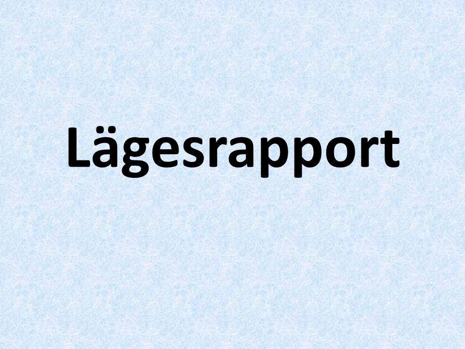 Lägesrapport