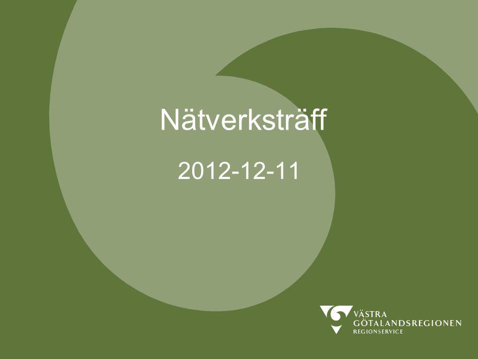Nätverksträff 2012-12-11