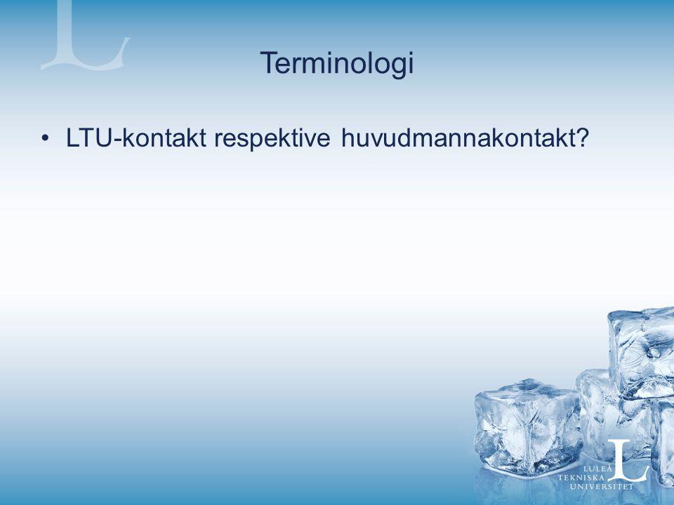 Terminologi LTU-kontakt respektive huvudmannakontakt?