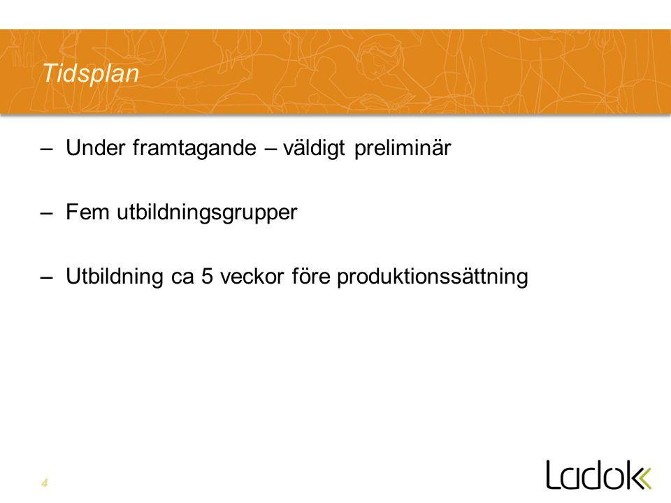 5 Kunskapstrappan – struktur för lärande Utbildning – introduktion till Ladok Eget arbete – testa och lär Stöd i gränssnittet Hjälptexter via gränssnittet Användarhandledn.