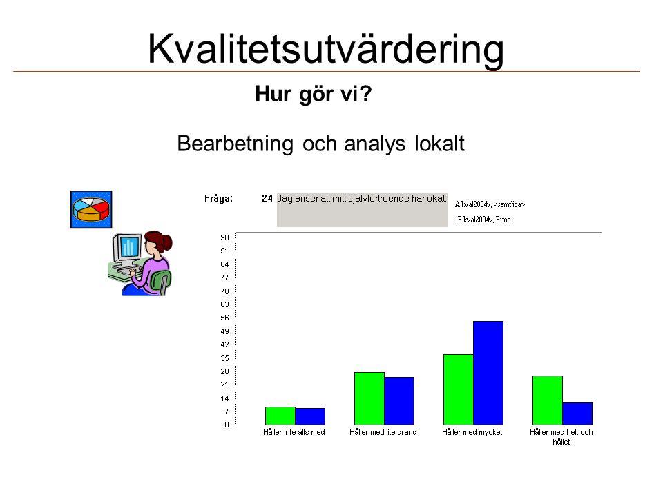 Kvalitetsutvärdering Bearbetning och analys lokalt Hur gör vi?