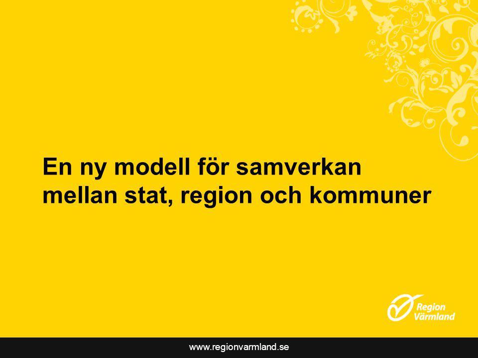 www.regionvarmland.se En ny modell för samverkan mellan stat, region och kommuner
