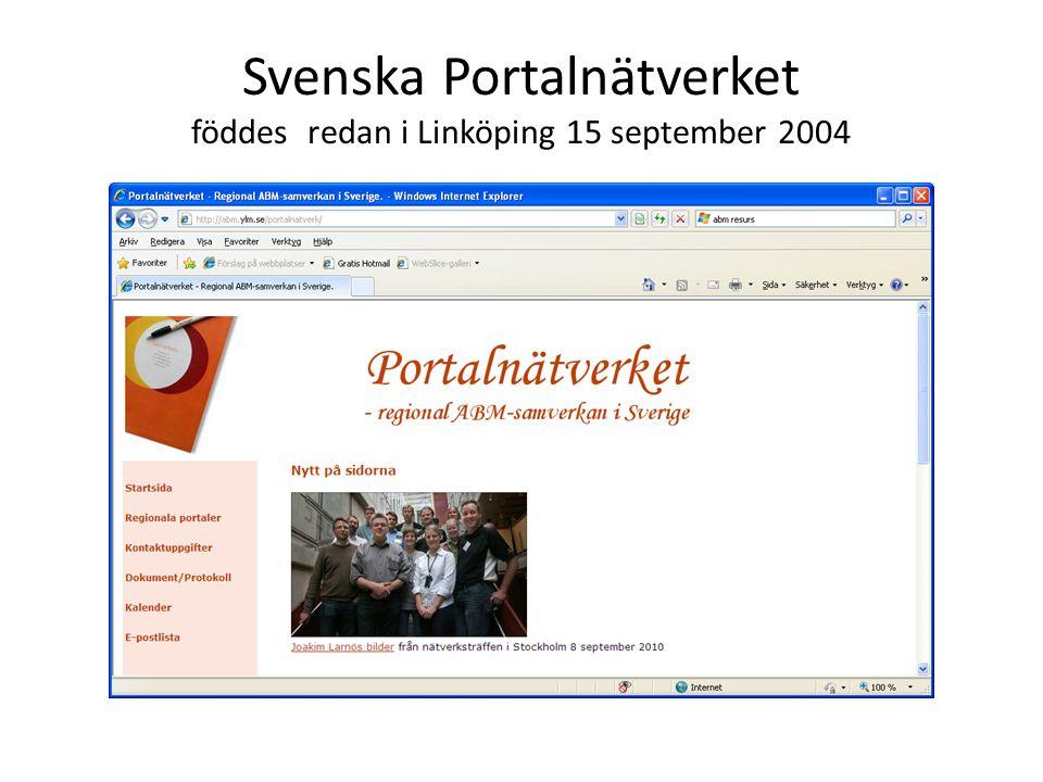 Svenska Portalnätverket föddes redan i Linköping 15 september 2004