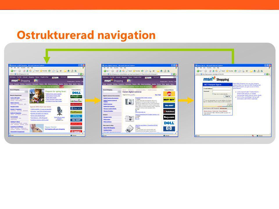 Ostrukturerad navigation