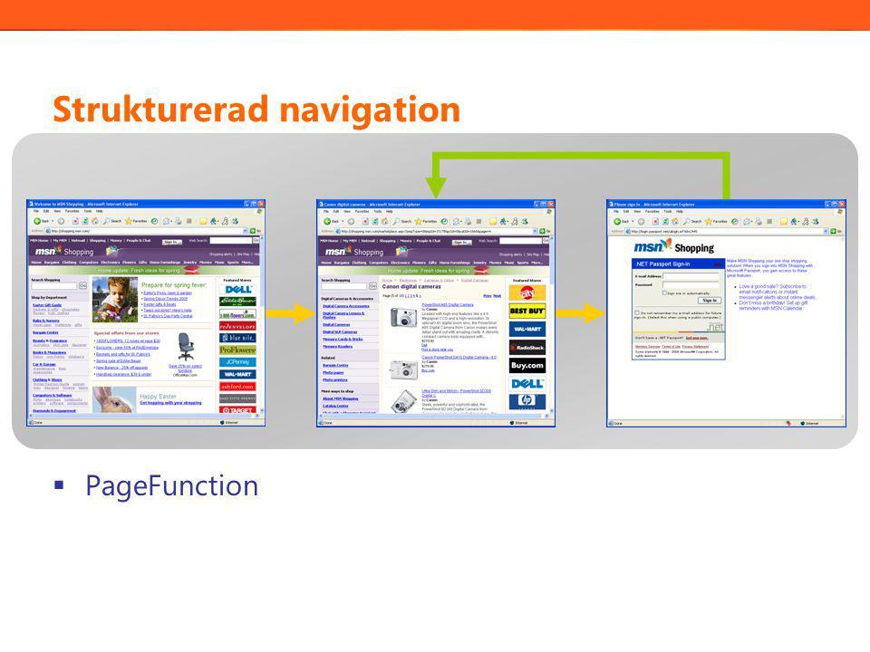 Strukturerad navigation  PageFunction
