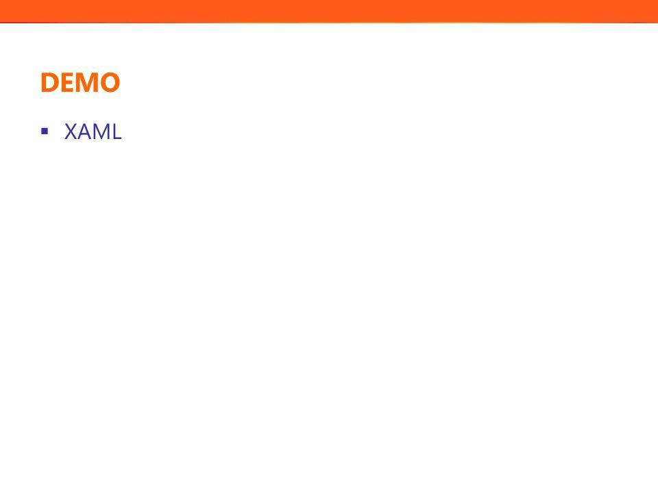 Datakällor och databinding  Datakällor: XML-data och CLR-objekt stöds av Blend  Databindning kopplar ihop de ingående objektens egenskaper (från en viss datakälla) med egenskaper i kontroller i användargränssnittet