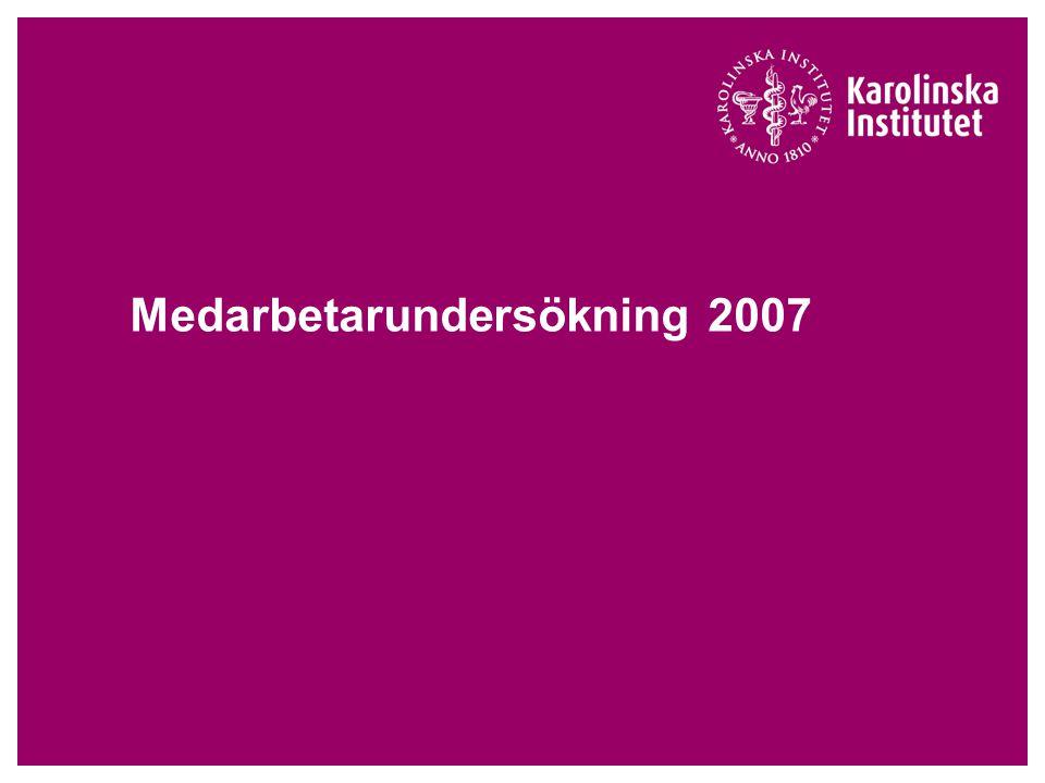 Medarbetarundersökning 2007