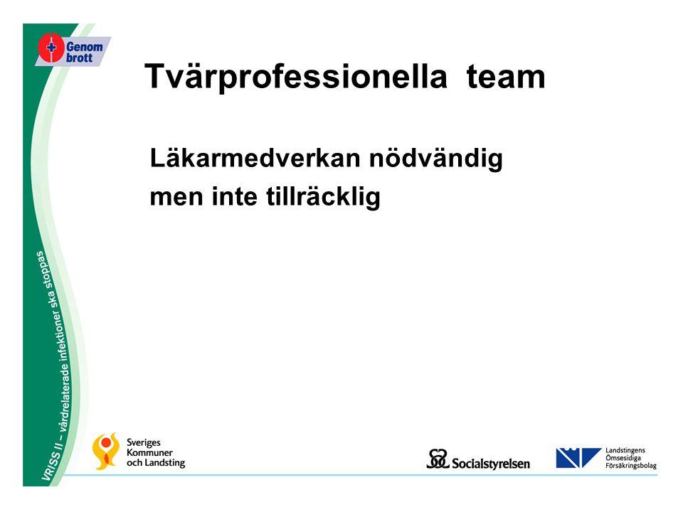 Tvärprofessionella team Läkarmedverkan nödvändig men inte tillräcklig