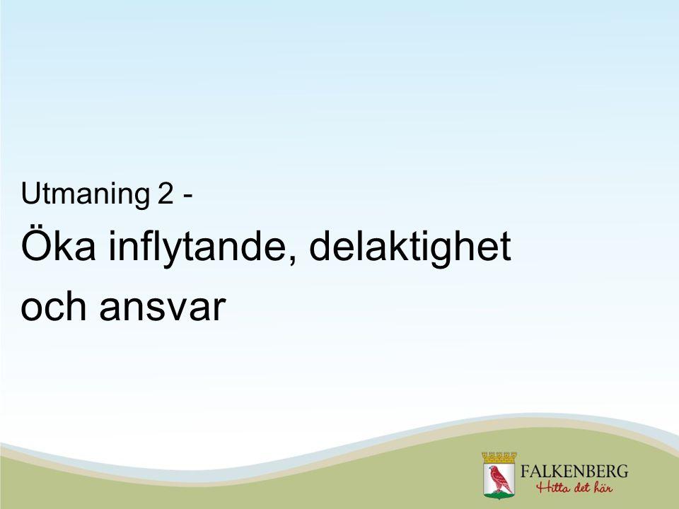 Utmaning 2 - Öka inflytande, delaktighet och ansvar