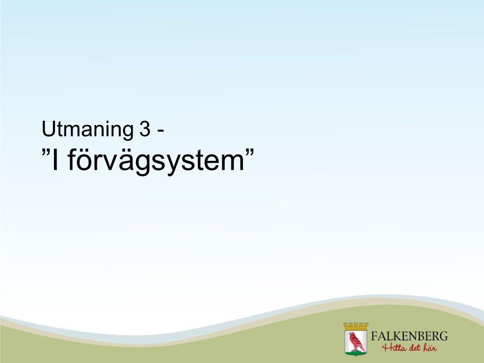 Utmaning 3 - I förvägsystem